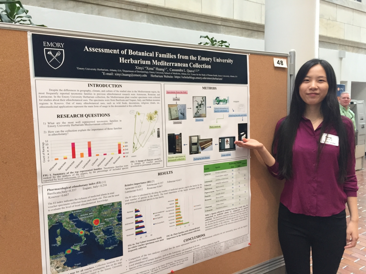 "Xena Huang: ""Assessment of botanical families from the Emory Herbarium Mediterranean collection"""