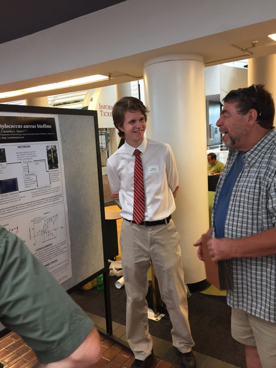 "Micah Dettweiler: ""Civil War medicinal plants inhibit S. aureus biofilms"""
